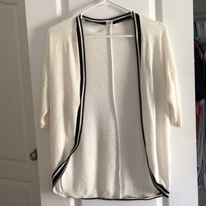 Sweaters - White and Black See Through Cardigan
